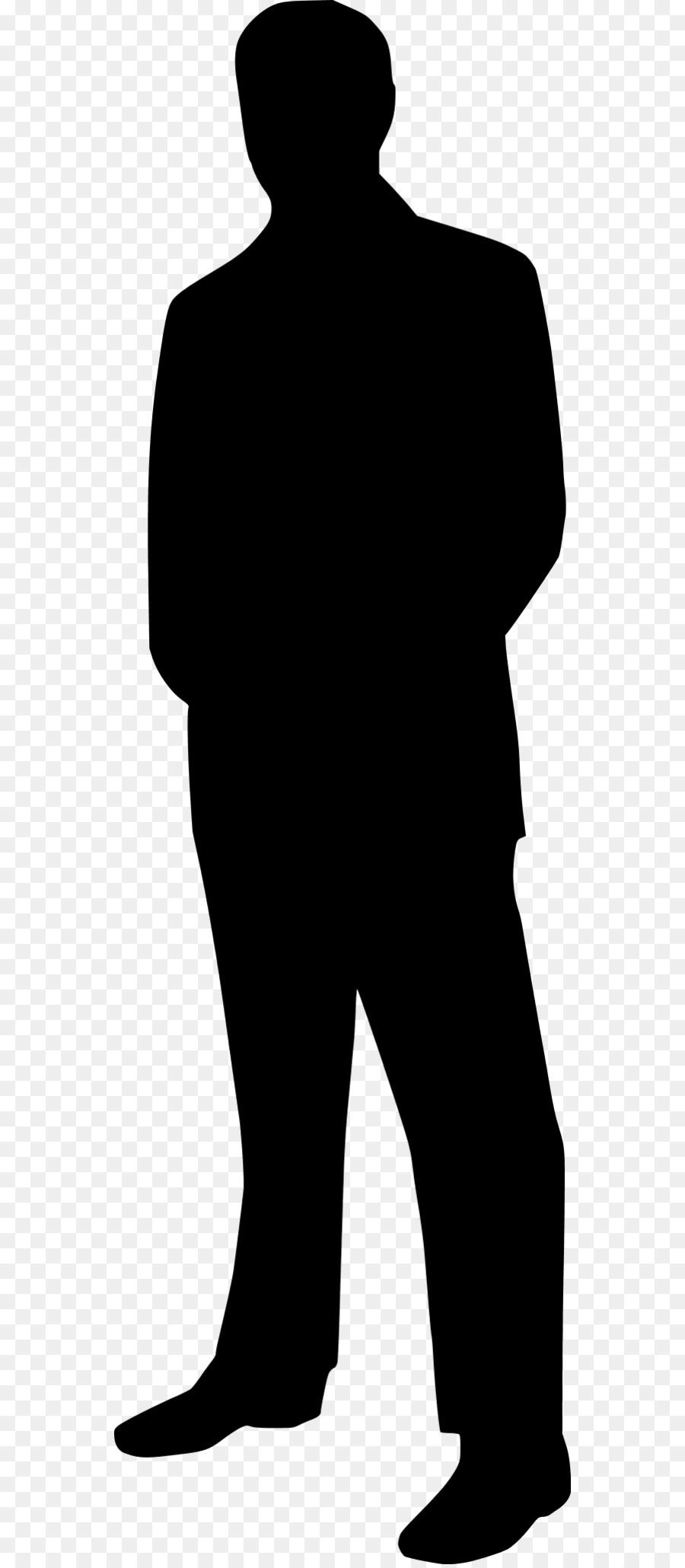 standing businessman silhouette cartoon royalty free - 640×1280