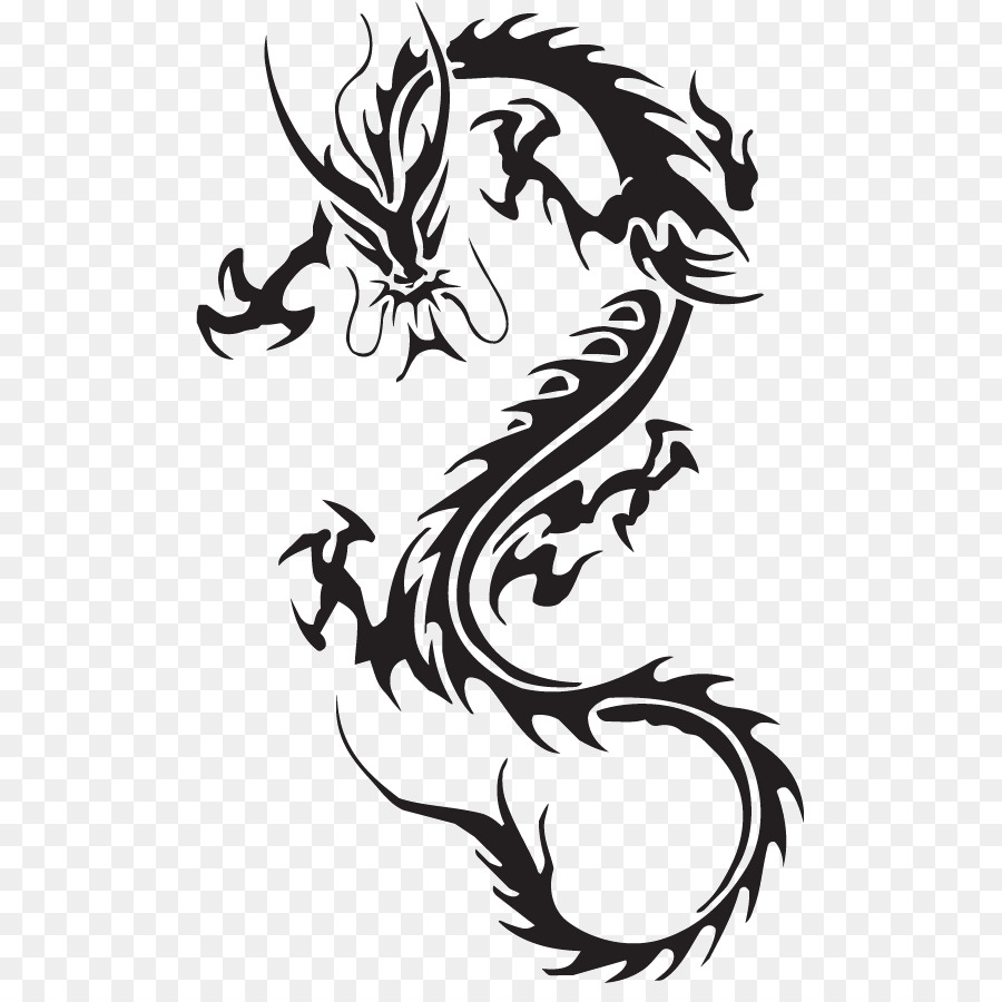 Chinese Dragon China Tattoo Drawing Lucky Symbols Png Download