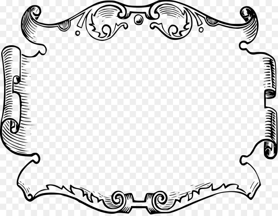 picture frames ornament borders and frames clip art - parchment png download - 1100 850