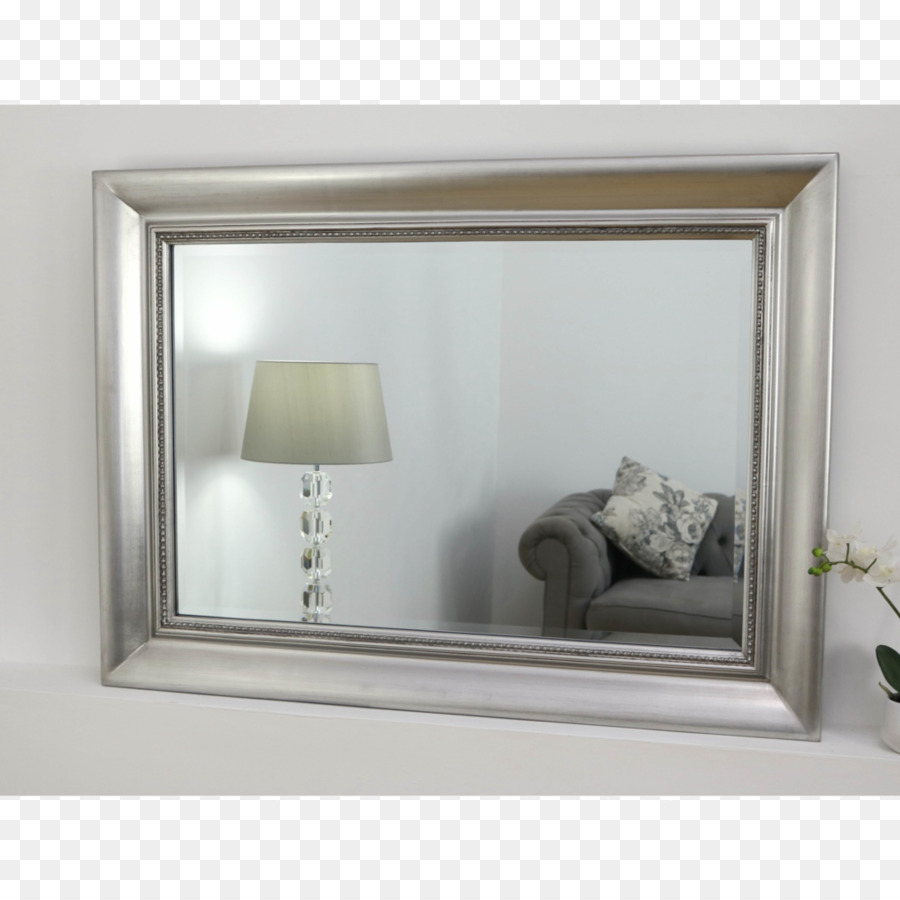 Mirror Shabby chic Picture Frames Window Silver - silver frame png ...