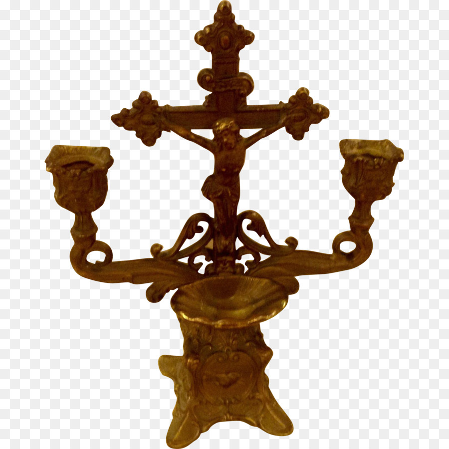 Crucifix Christian Cross Holy Water Font Candlestick Holy Week Png