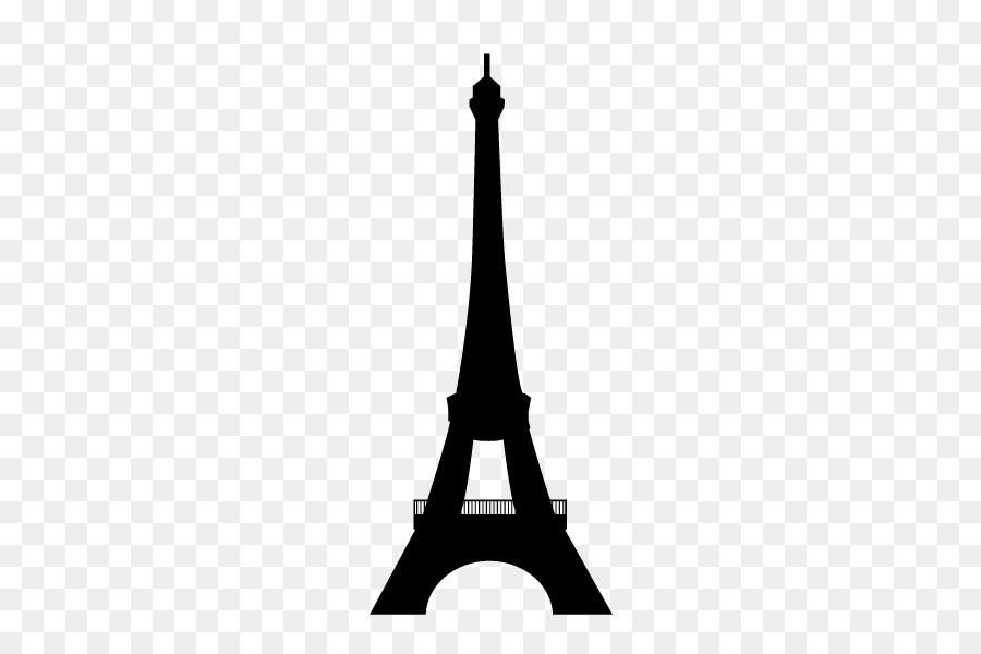 Eiffel Tower Silhouette Paper Clip Art