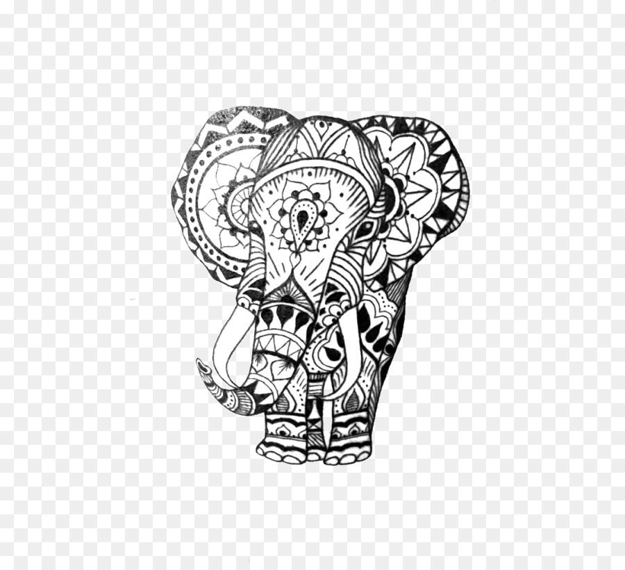 Sleeve Tattoo Elephant Mehndi Henna Elephant Motif Png Download