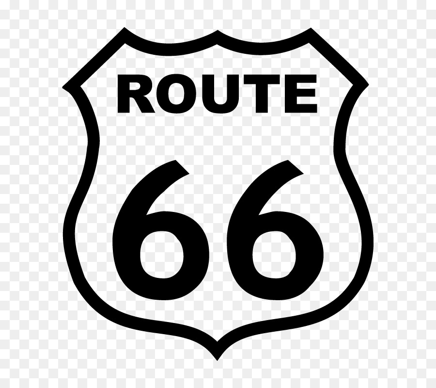Us Route 66 Logo Royalty Free Route Png Download 800800