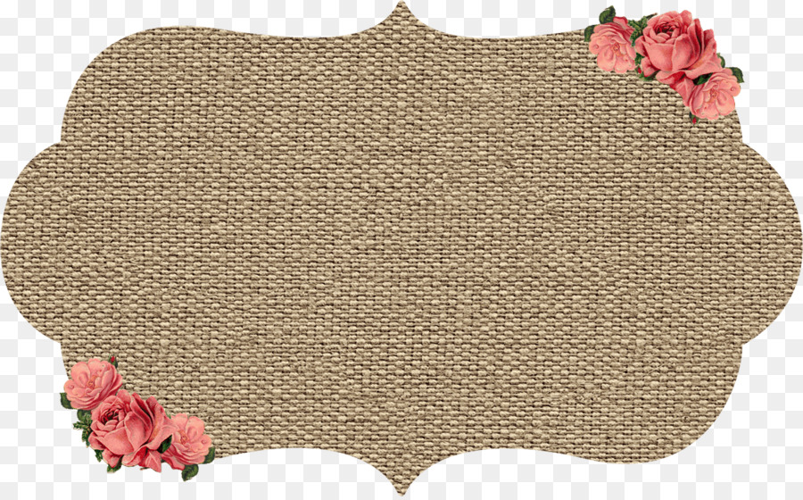Hessian fabric Picture Frames Paper Clip art - Shabby png download ...