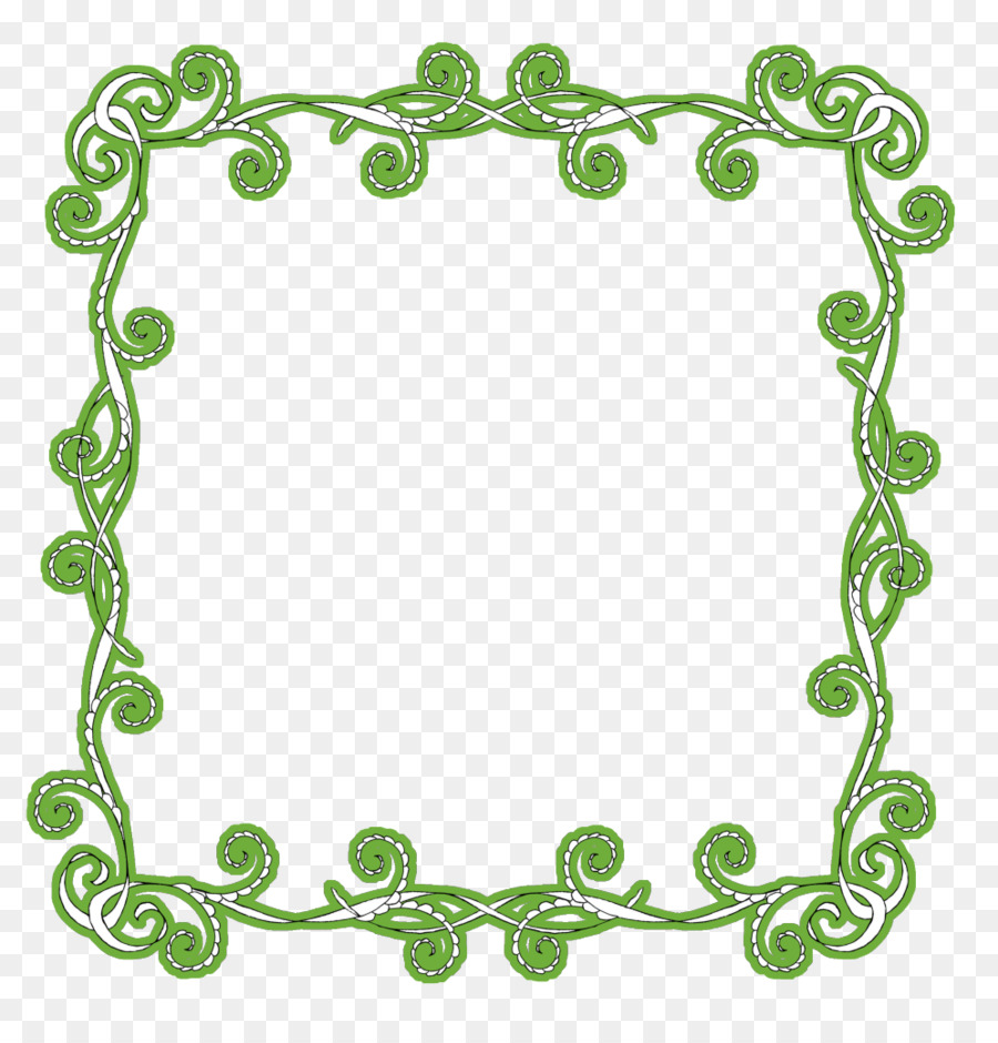 New Year\'s Day Greeting Wish Clip art - green frame png download ...