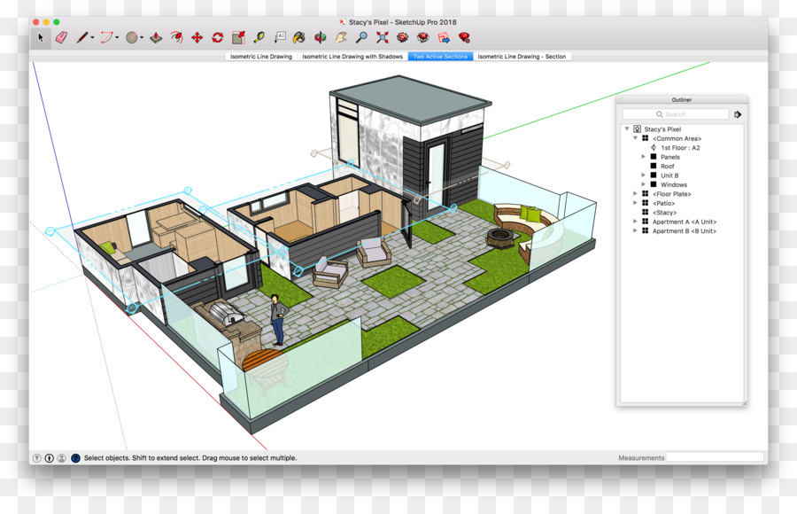SketchUp Floor plan 3D computer graphics Computer Software - rooftop ...