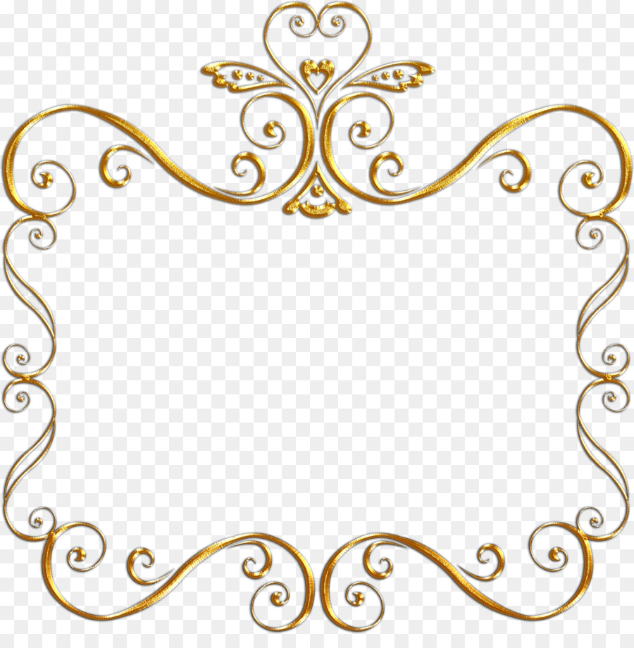 Picture Frames Black And White Gold Clip Art Gold Frame Png