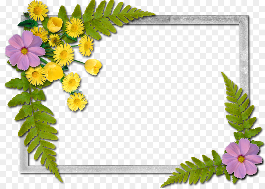 Picture Frames Flower A Butterfly - flowers frame png download - 1280*904 - Free Transparent Picture Frames png Download.