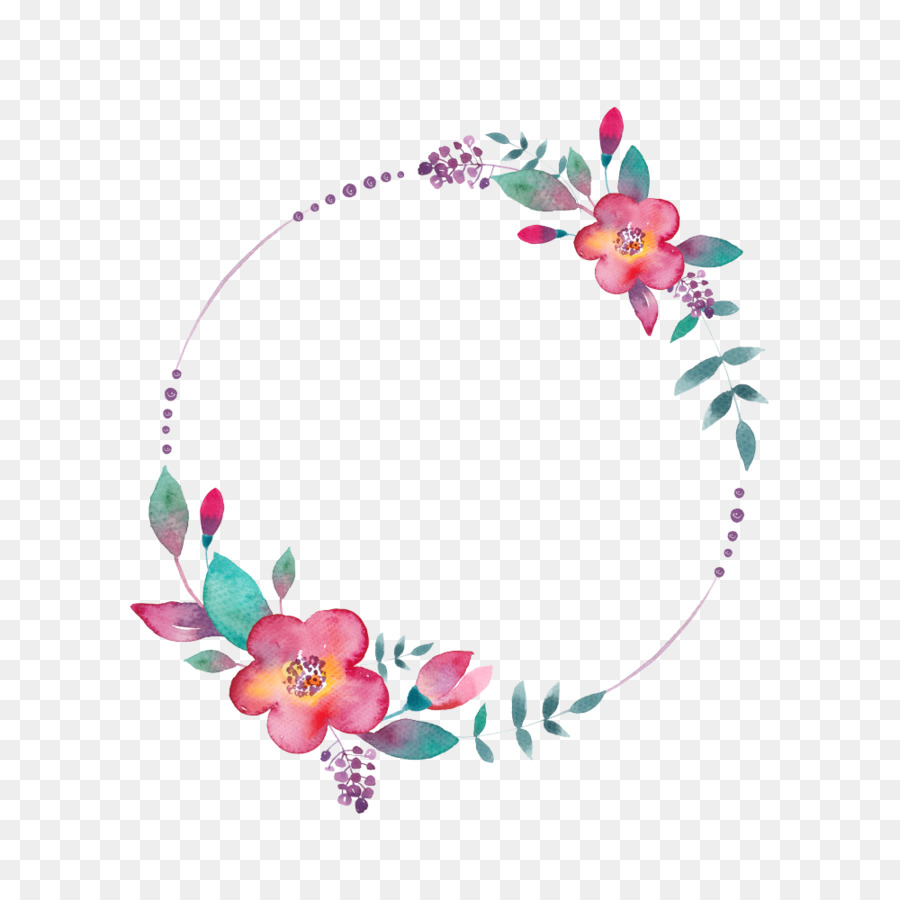 Watercolor Painting Youtube Floral Circle Png Download