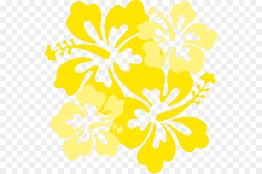 Fleur Hawaienne Clip Art Fleur Jaune Telechargement Png 594 598