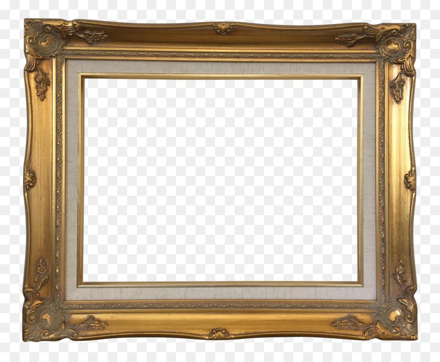 Picture Frames Baroque Wood Carving Art Vintage Gold Png Download
