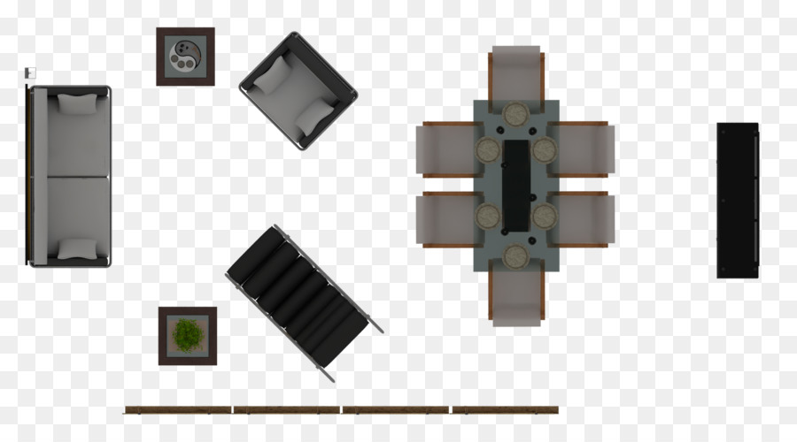 Furniture Dining Room Floor Plan Bench View Png Download