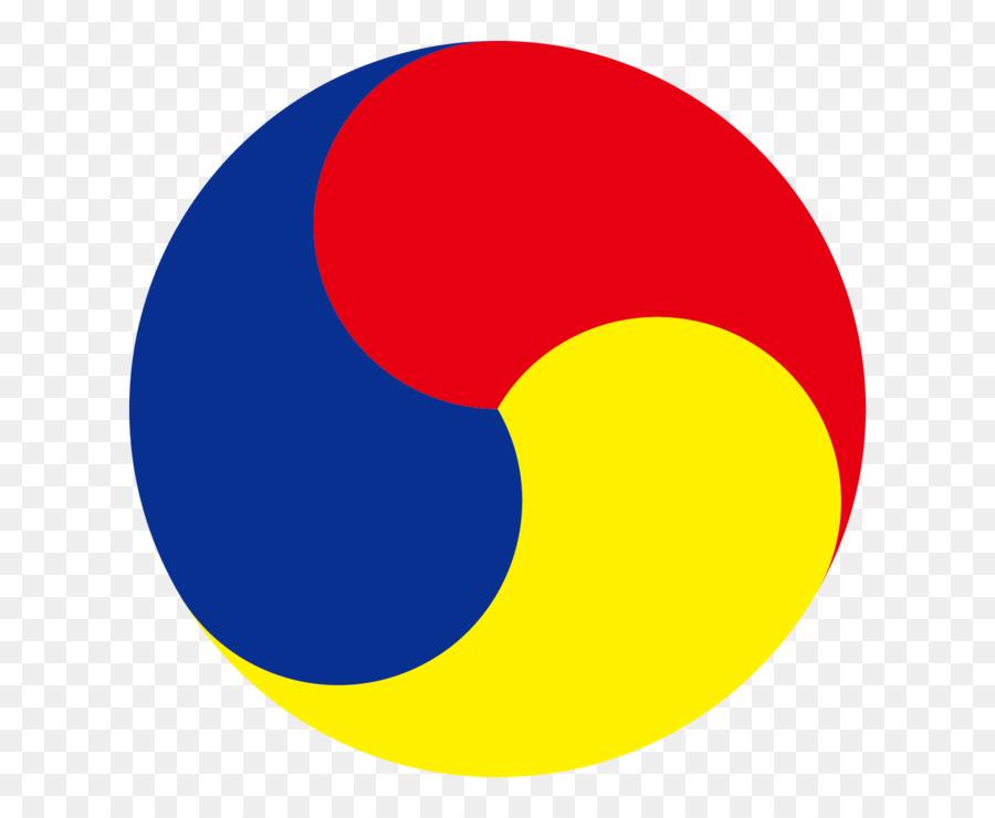 Taegeuk Symbol South Korea Trois Talents Folk Png Download 740