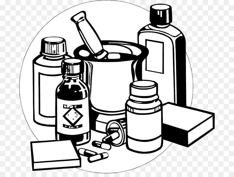 Medicine Pharmaceutical Drug Black Clip Art