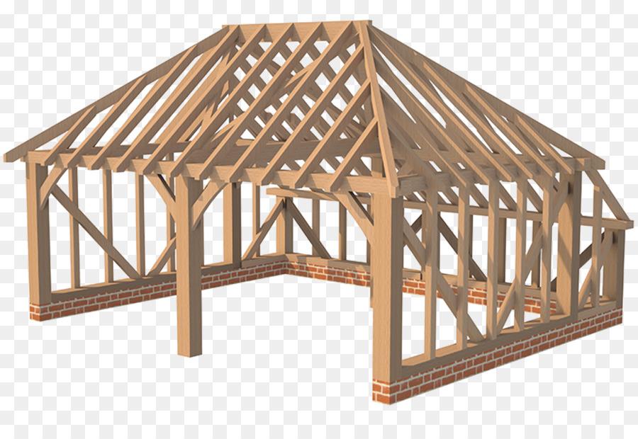 Hip roof Lumber Timber framing - roof png download - 1040*694 - Free ...