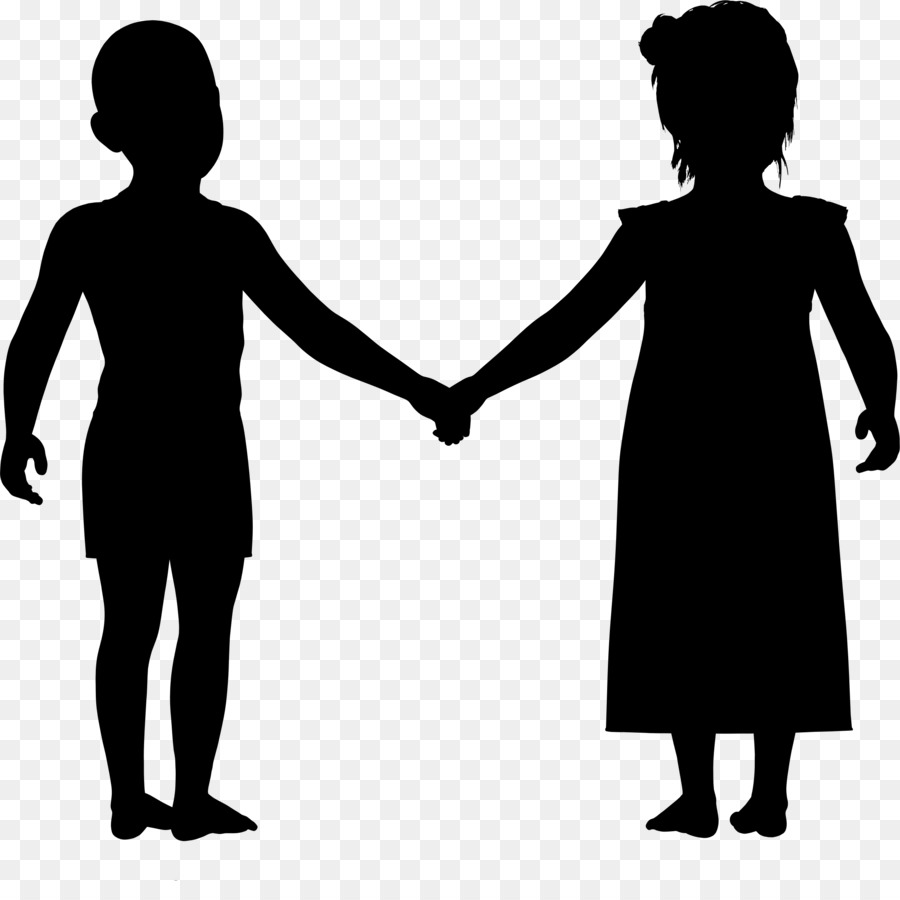 silhouette holding hands family clip art holding hands png
