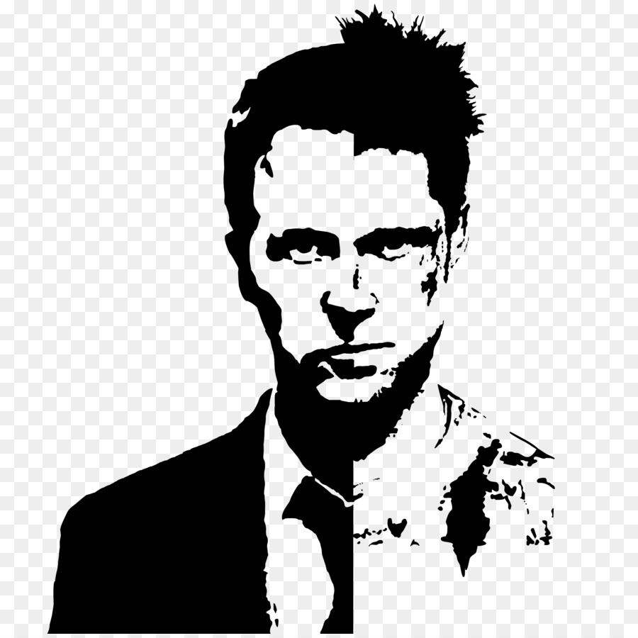 Brad Pitt Fight Club Tyler Durden Stencil YouTube - fight png ...