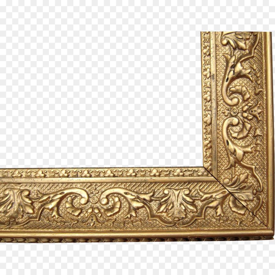 Bilderrahmen, Bettrahmen Dekorative Kunst Antik - Vintage Gold png ...