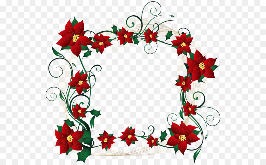Candy cane Christmas decoration Borders and Frames Clip art - flower ...