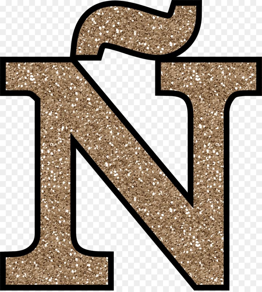 Letter Alphabet Glitter N