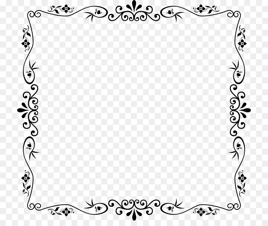 Picture Frames Clip art - decorative frame png download - 786*742 ...
