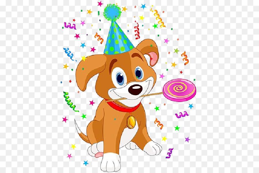 Puppy Golden Retriever Birthday Party Clip Art