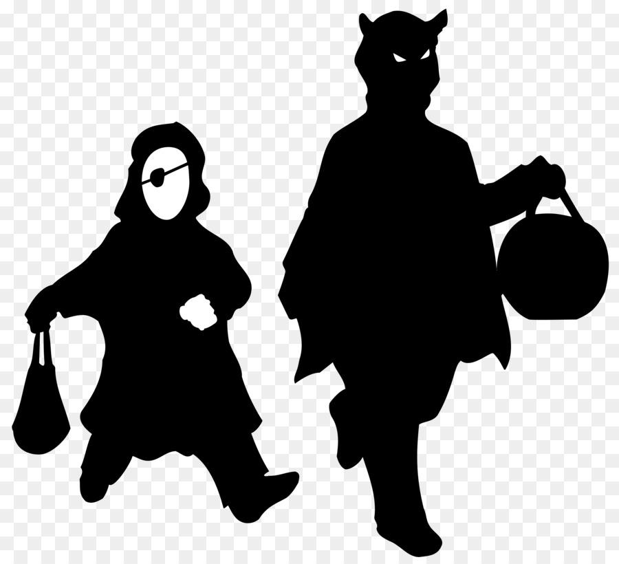 Halloween Trick Or Treat Silhouette.Halloween Haunted House Png Download 6534 5943 Free