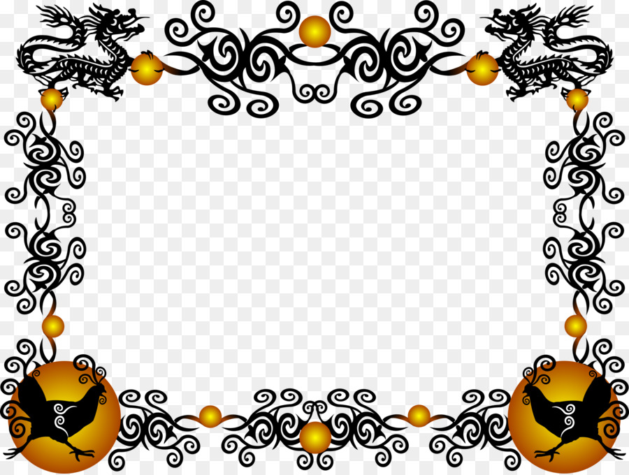 China Chinese dragon Borders and Frames Clip art - new png download ...