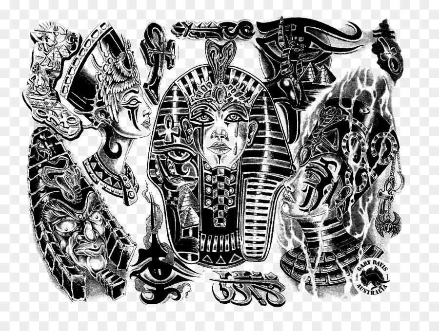 Ancient Egypt Sleeve Tattoo Egyptian Tattoo Artist Tattoo Png