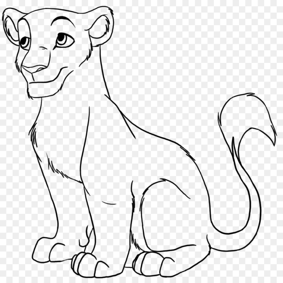 León de Línea de Dibujo en el arte de Clip art - león de dibujo ...