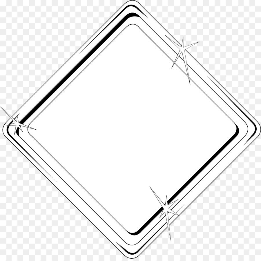 Rhombus-Form Bilderrahmen Dreieck Licht - Diamant Grenze png ...