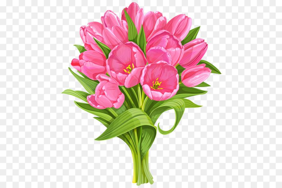 Flower bouquet Pink flowers Clip art - tulip png download - 529*600 ...