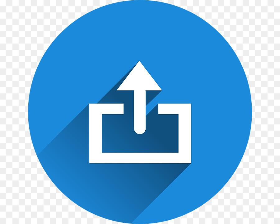 Upload Blue png download - 720*720 - Free Transparent Upload png