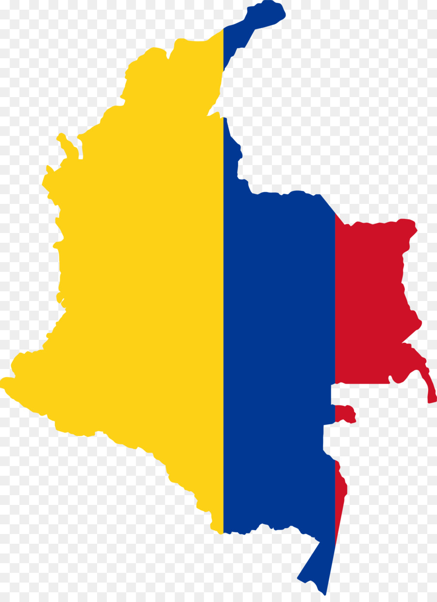Flag of Colombia Map Colombian presidential election, 1998 - country ...