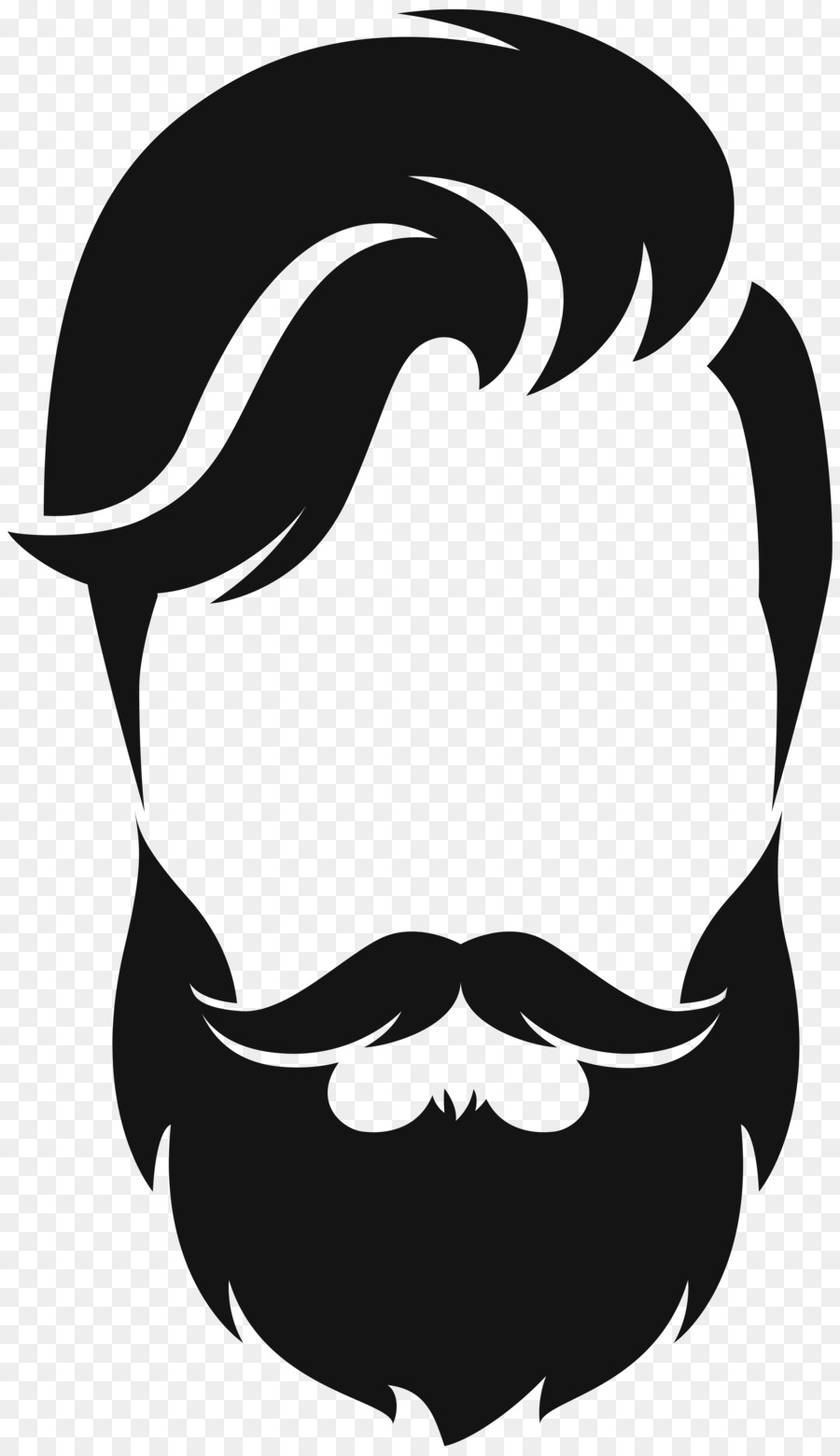 silhouette beard moustache clip art hair style png download 4626 rh kisspng com beard clip art free bear clip art