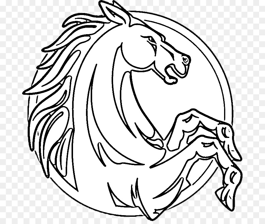 Mustang Kuda Islandia Kuda Belgia Buku Mewarnai Kuda Unicorn