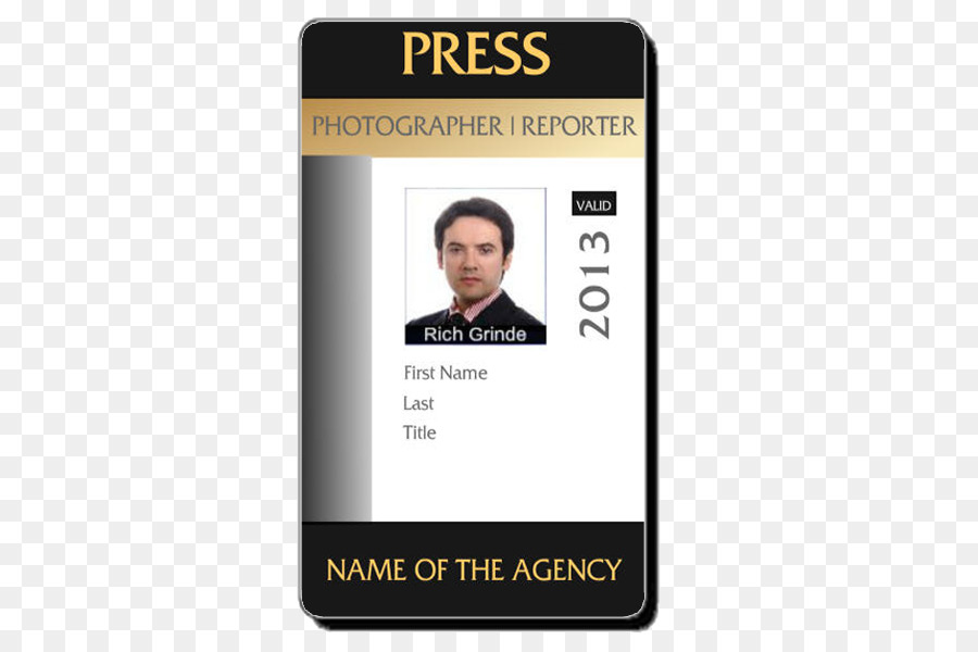 Template 600 - Free Download Badge 600 Transparent Document Photo Identification Id Png Card Identity Photographer Download