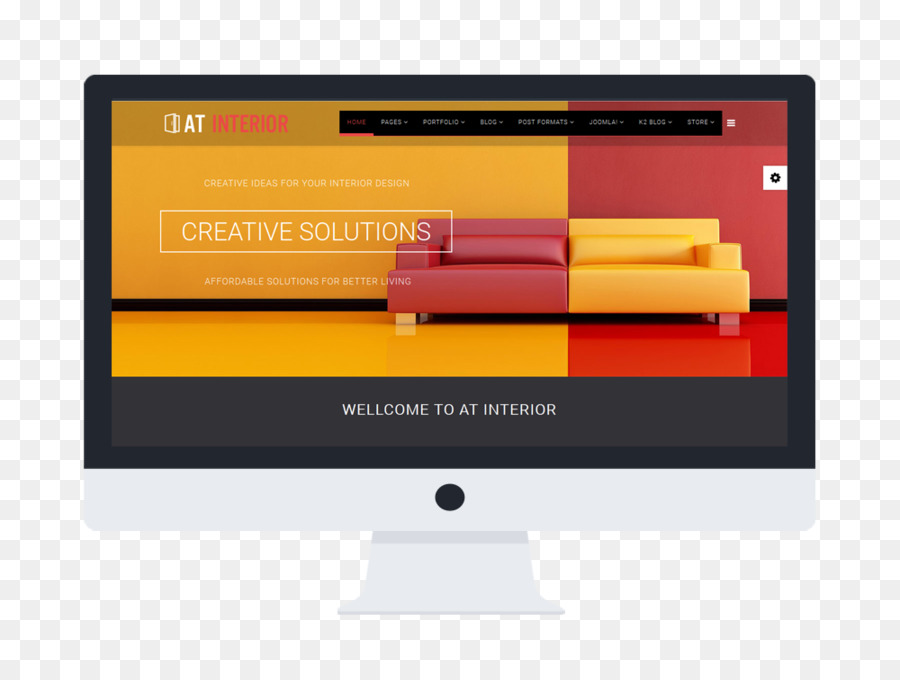 Responsive Web Design Template Interior Design Services Furniture - Responsive web design templates free download
