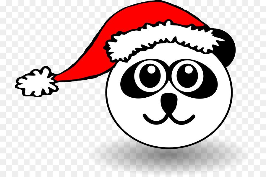 Gatto Gattino Di Natale Da Colorare Clipart Nero Di Babbo Natale