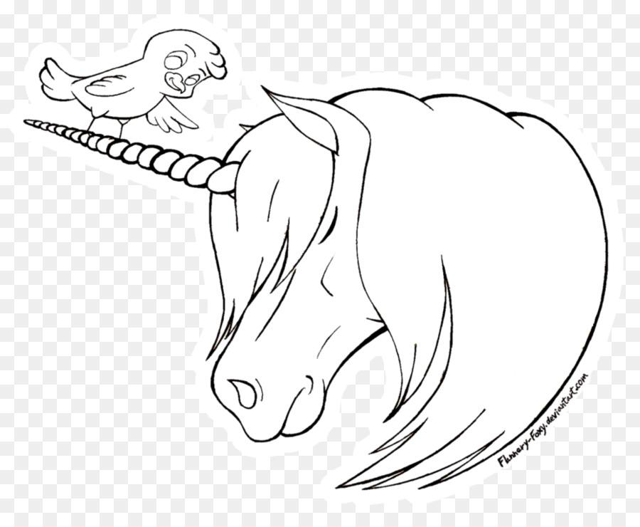 Hat Sanatı Unicorn Kroki çizim Tek Boynuzlu At Kafası Png Indir