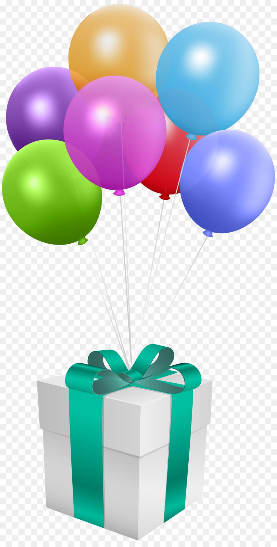 Birthday Balloon Gift Greeting Note Cards Clip Art Birthday Gift