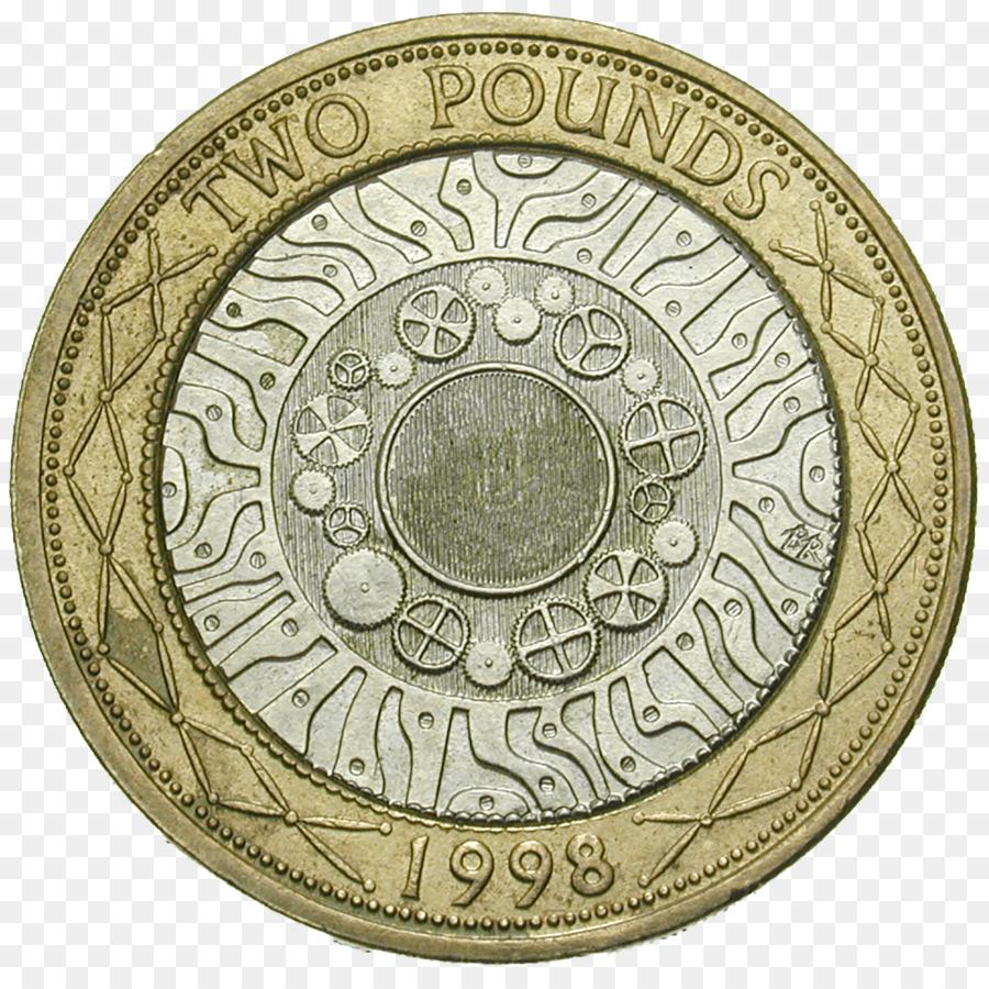 Münze Zwei Pfund Eine Halbe Krone Pfund Sterling Münzen Png