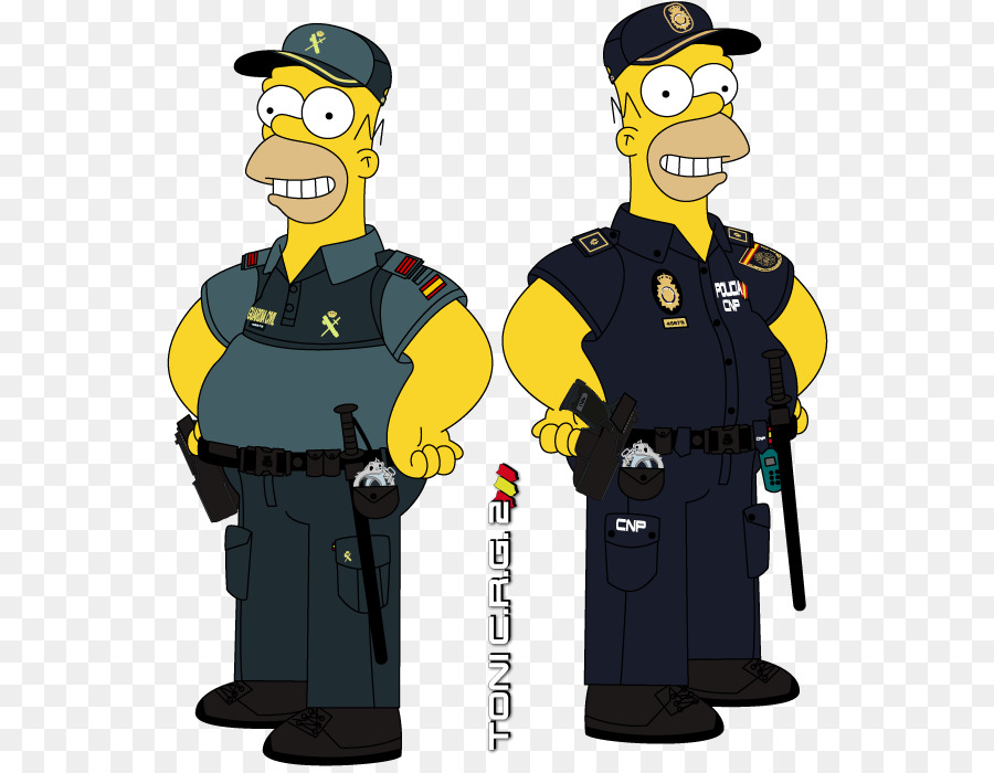 Homer simpson police officer national police corps uniform homero png download 600 694 - Police simpsons ...