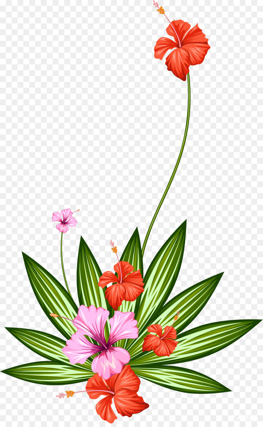 Cut flowers Plant Tropics - Water Color Flowers png download - 1000 ...