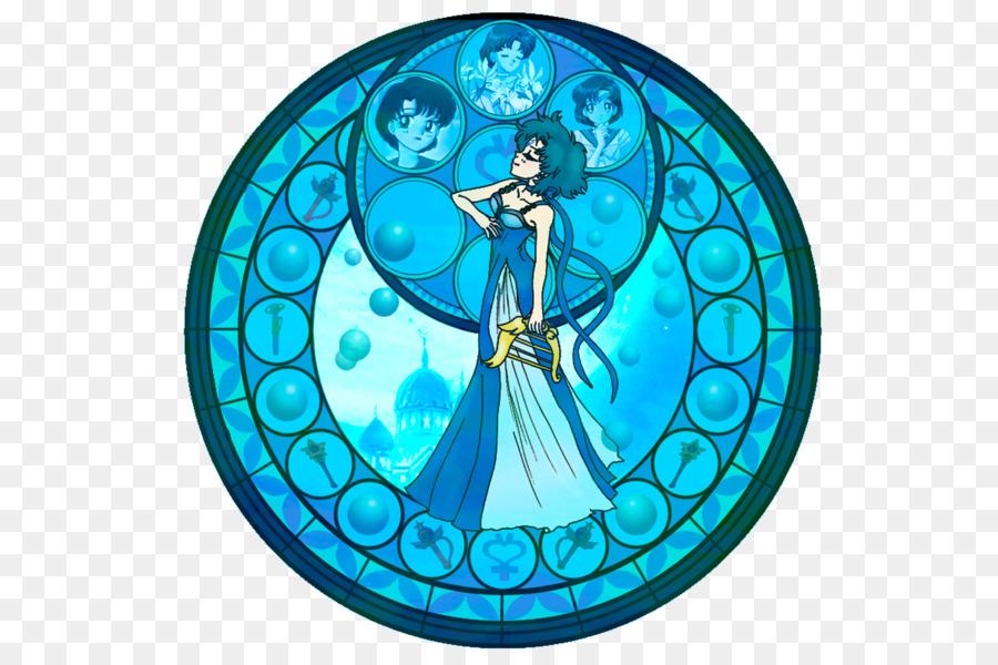 Ventana de cristal Manchada Sailor Mercurio Sailor Moon - kida png ...