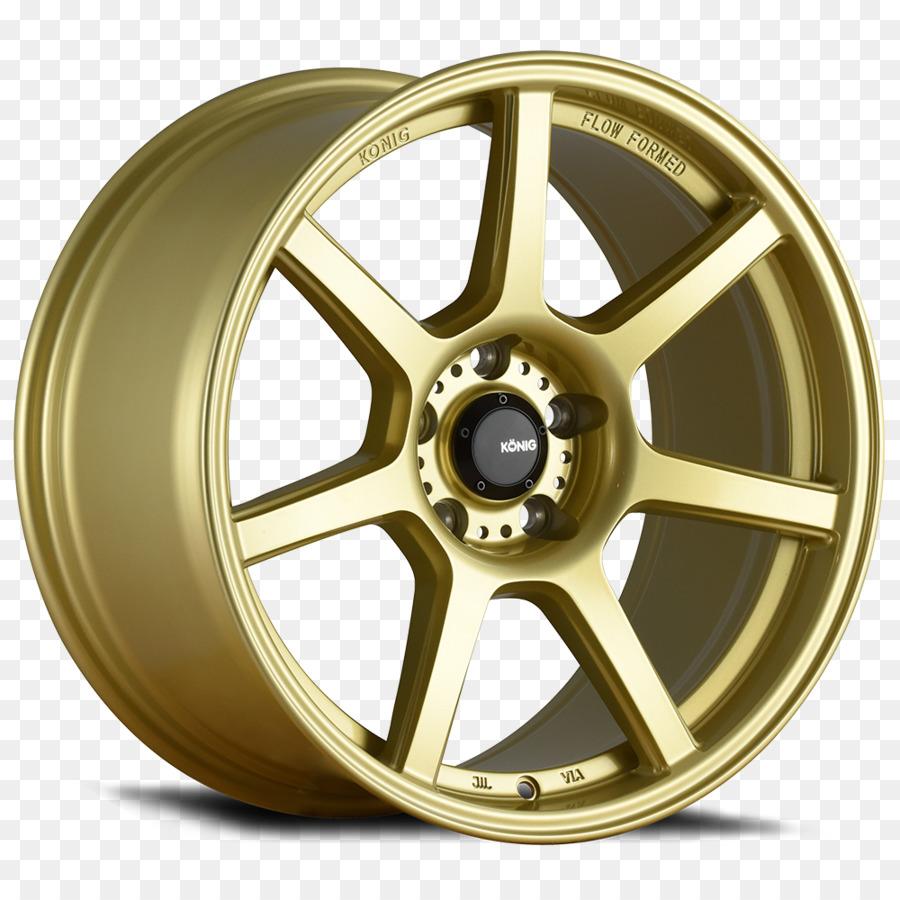 Custom Wheel Car Rim Spoke Gold Paint Png Download 1000 1000