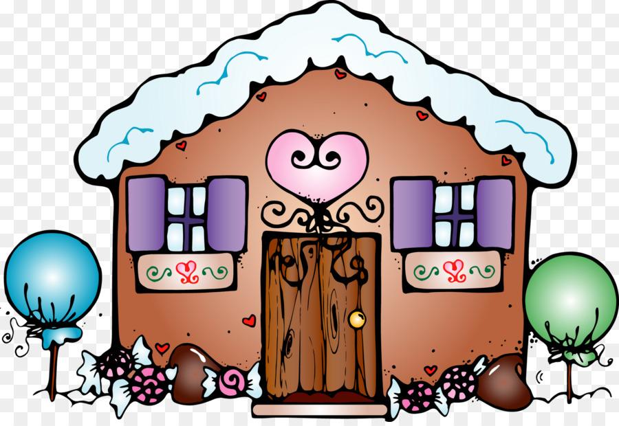 Kartun Gingerbread House Manusia Kue Jahe Unduh Bermain