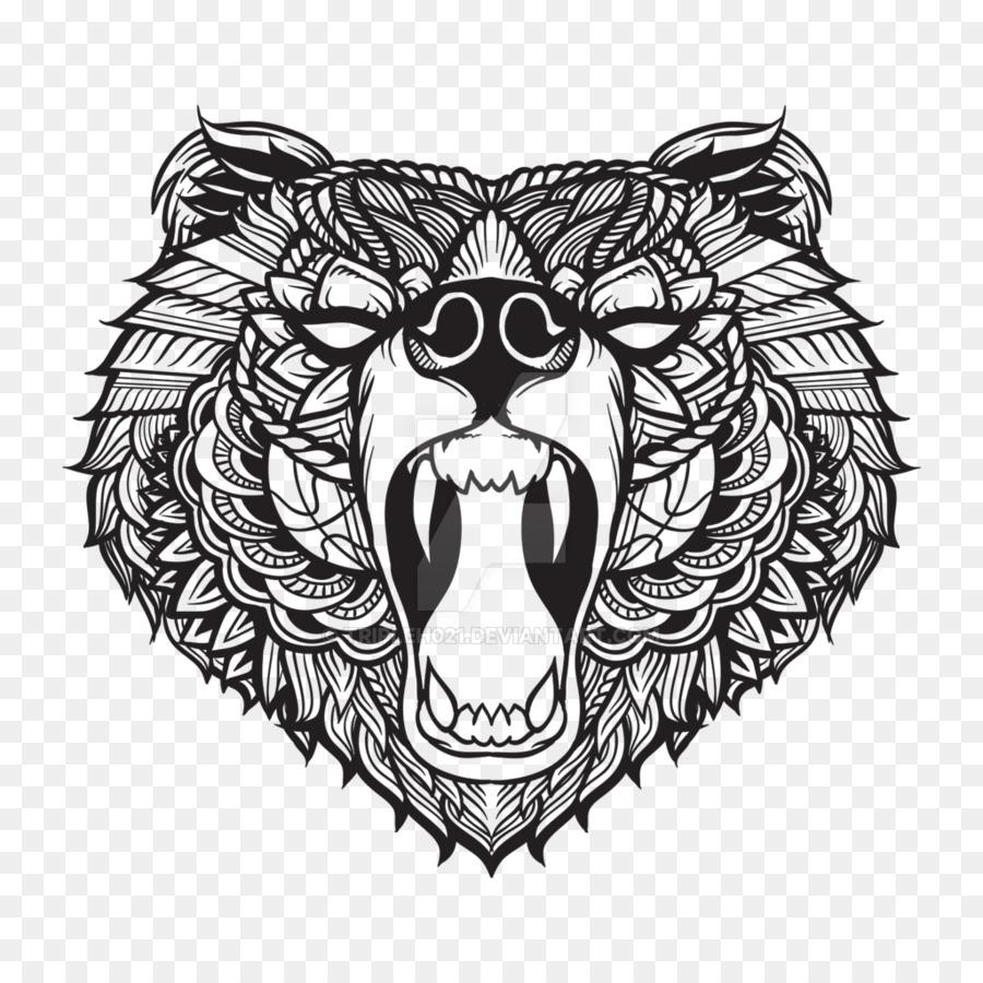 Line Art Tattoos Florida : Florida black bear tattoo grizzly youtube cm punk