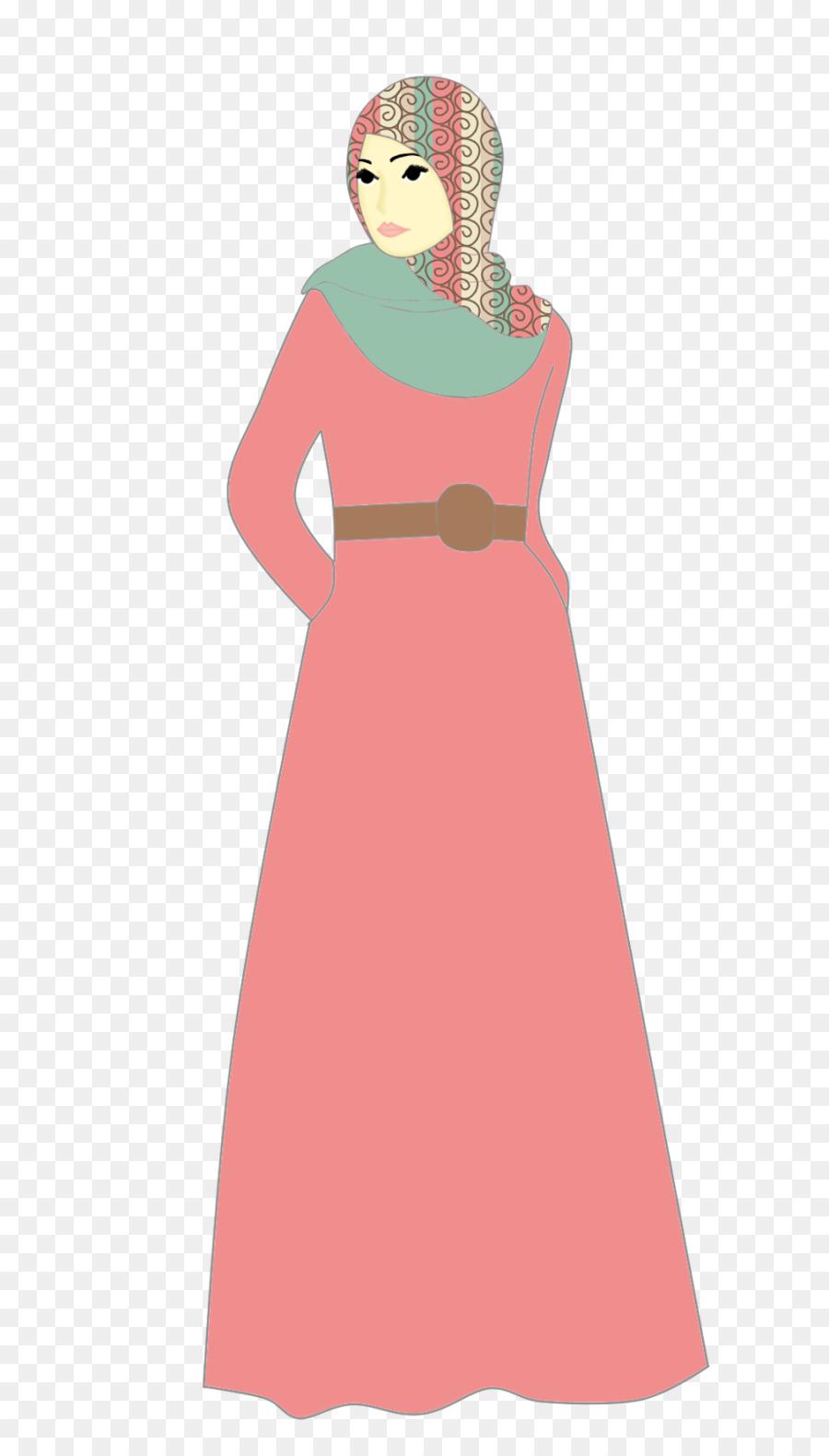 Vestido De Doodle Musulmana Con Hiyab - doodle Formatos De Archivo ...